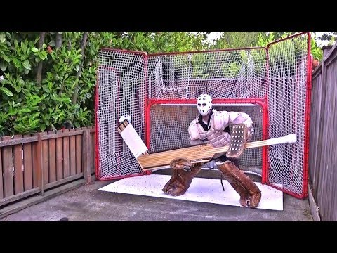 HOW TO GOALIE | MASSIVE STICK @ Ultimate Hockey Fan Cave