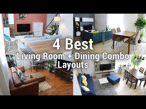 4 Best Living Room + Dining Combo Layouts | MF Home TV