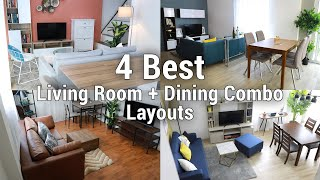 21 Living Room Dining Combo Ideas, Small Dining Room And Living Combo