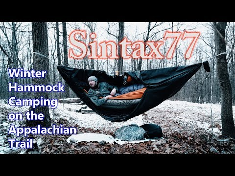 Winter Hammock Camping on the Appalachian  Trail  - Port Clinton, PA