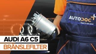 Så byter du bränslefilter på AUDI A6 C5 [GUIDE]