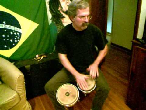 how to play a classic rock beat on bongos