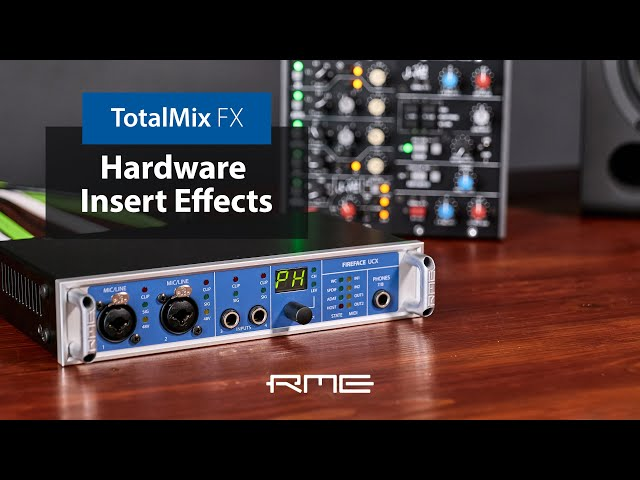 Route and Mix Hardware Insert Effects in TotalMix FX