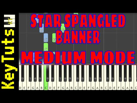 Learn to Play Star Spangled Banner by Francis Scott Key - Medium Mode