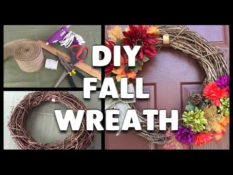 DIY   How to Make a Fall Wreath!