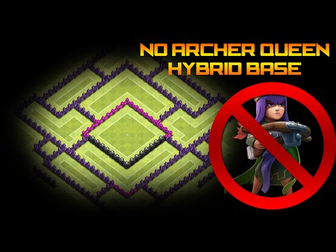 Clash of Clans - Th 9 No Archer Queen Hybrid Base Layout
