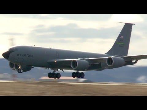 USAF F-15C & KC-135 Takeoff/Landing at Keflavík Airport, Iceland