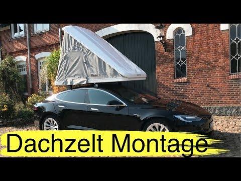 Dachzelt - und Dachgepäckträger Aufbau und Unboxing Autohome Columbus Variant für Tesla Model S