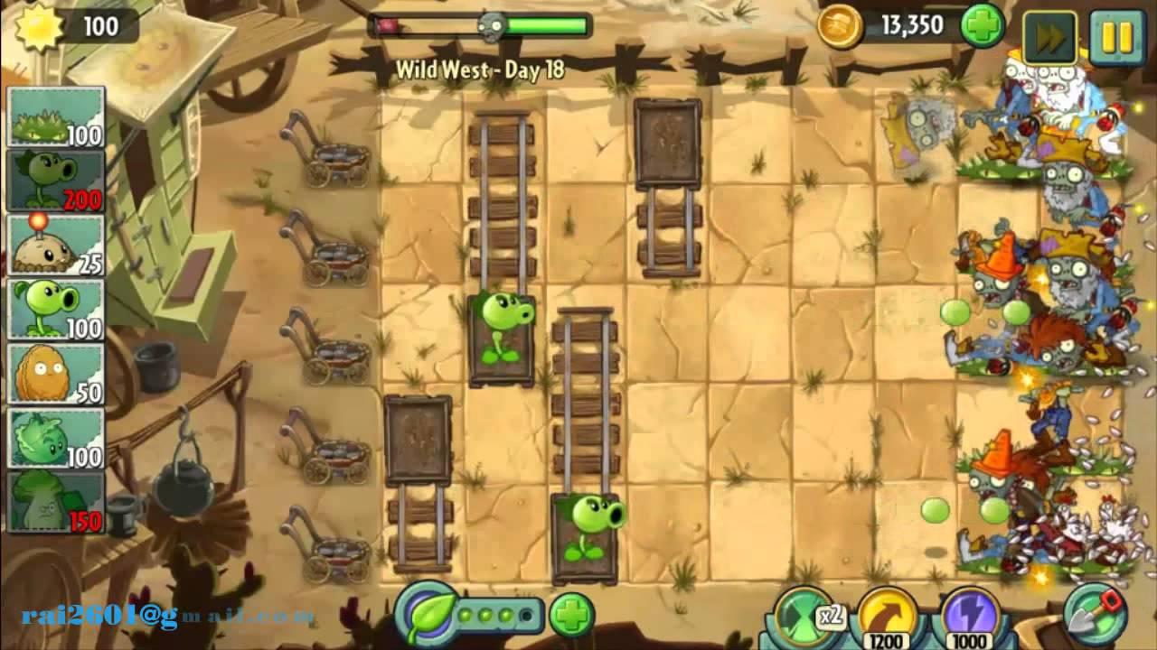 Wild West Day 18 Plants Vs Zombie 2 Walkthrough Youtube
