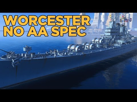 Worcester No AA Skills - World of Warships