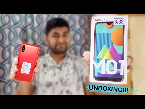 Samsung Galaxy M01 Unboxing & Review In Hindi    Red Colour🔥🔥🔥