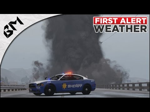 GTA 5 - LSPDFR - ALERTE TORNADE - Snow Patrol - Patrouille 30