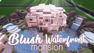 Roblox    Bloxburg: Blush Waterfront Mansion    House Build