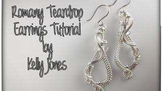 """Wire Wrap """"Romany Teardrop"""" Earrings Tutorial."""