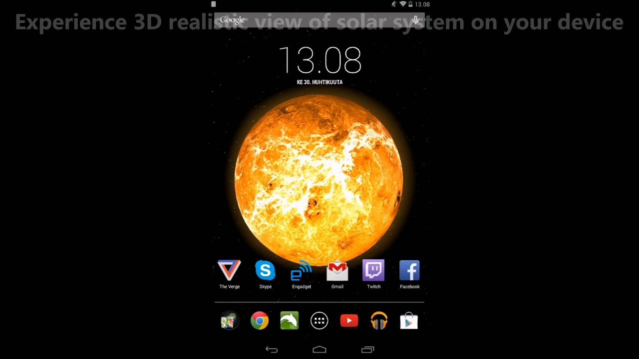Sun Planets And Moon Live Wallpaper For Android