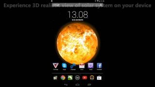 Sun, Planets And Moon Live Wallpaper for Android