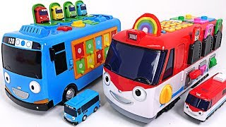 Dinosaurs broke the road! Talking Edu Train Titipo and Smart Bus Tayo are Going - PinkyPopTOY
