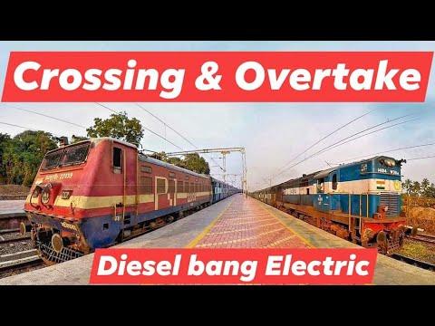 Super Scene | Train Crossing & Overtake | Diesel Express