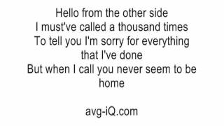 Hello by Adele Guitar Karaoke Version