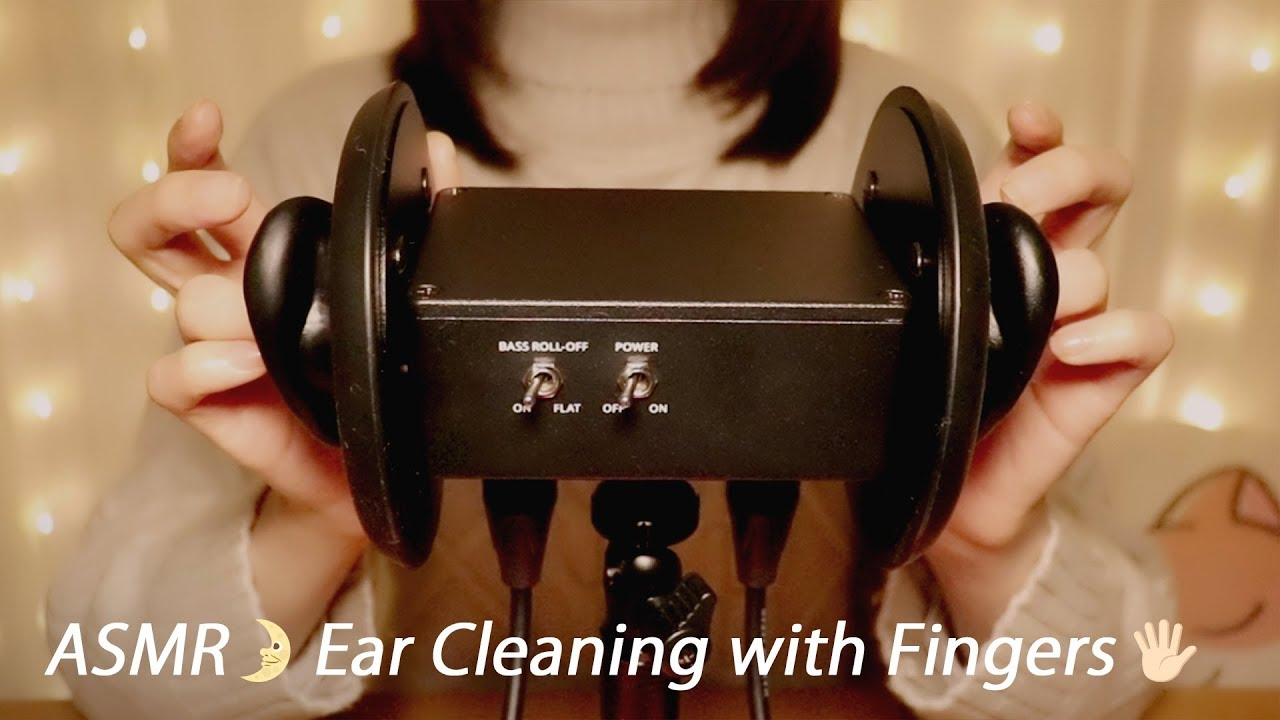 [ASMR] Ear Cleaning with Fingers 👂👈 No Talking / 指で耳かき