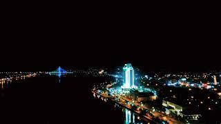 Thành phố Đồng Hới, Quảng Bình về đêm qua góc máy flycam