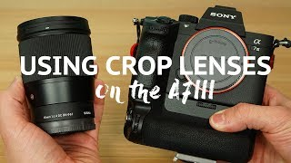 Can you use a crop lens on a Sony A7iii or other Full Frame camera
