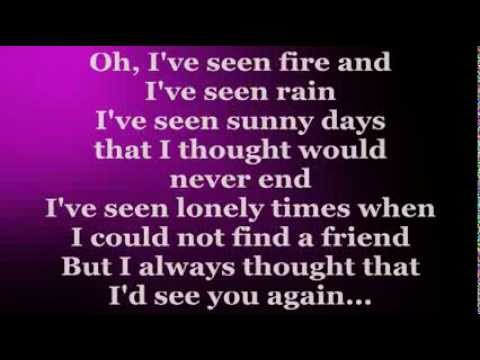 fire and rain lyrics: