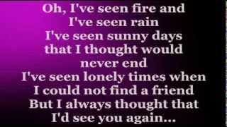 Fire And Rain (Lyrics) - JAMES TAYLOR