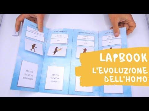 """il-libro-magico---lapbook-""""l'evoluzione-dell'homo-nel-paleolitico""""---classe-terza"""