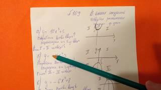 109 Алгебра 9 класс В каких координатных четвертях расположен график функции параболы