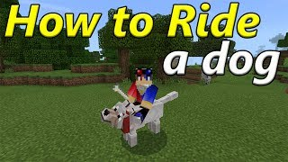 How to Ride a Dog | Minecraft PE