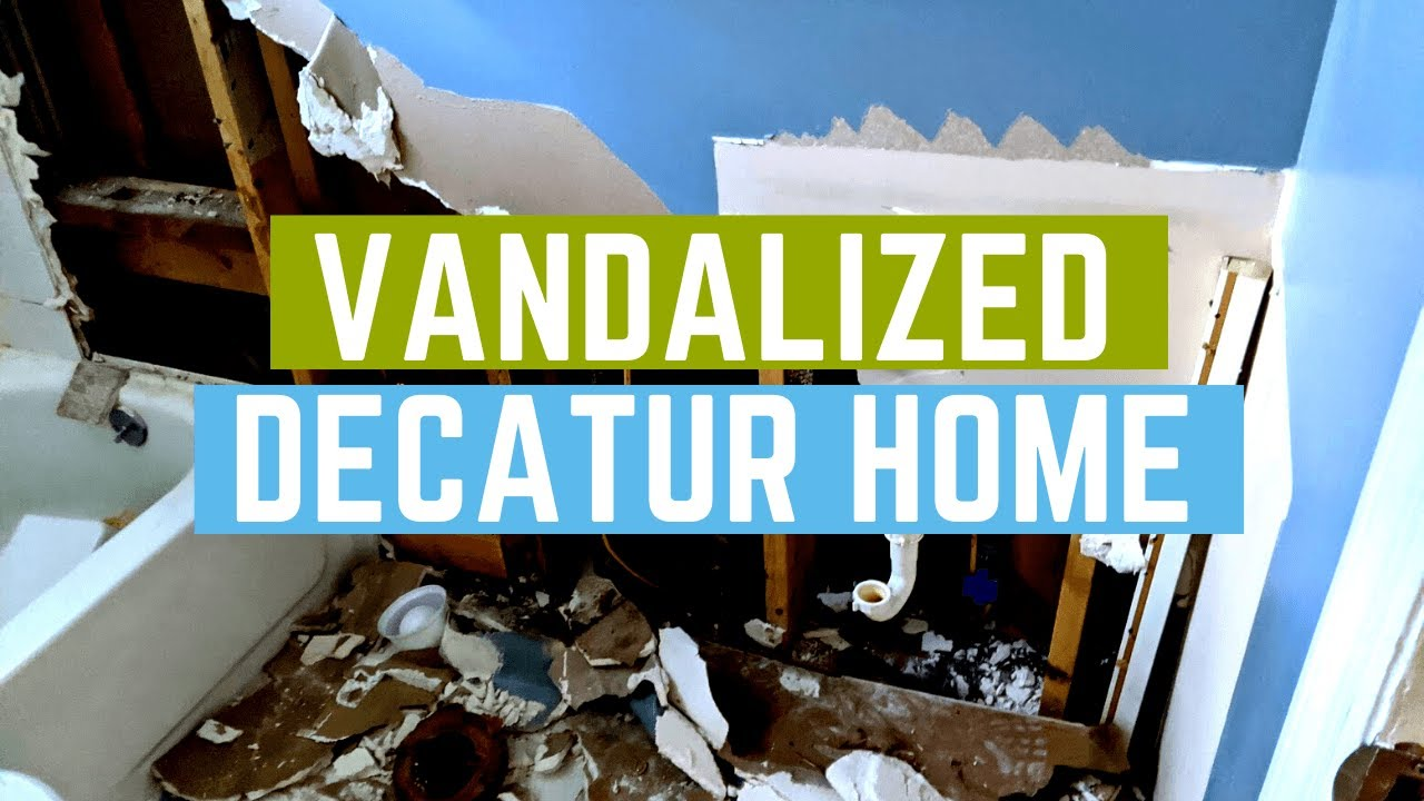 Vandalized Foreclosed Home In Decatur GA | Breyer Home Buyers 770-744-0724