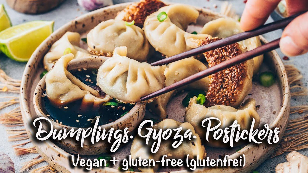 Glutenfreie Dumplings (Gyoza, Potstickers ) | Veganer Teigtaschen- & Nudel-Teig Rezept