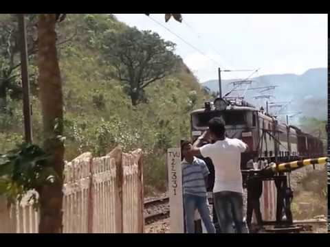 Train with 3 engines on hills passing through caves │diesel train engine blows up