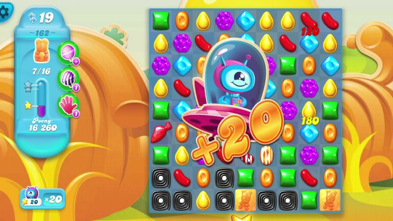 how to pass level 162 on candy crush