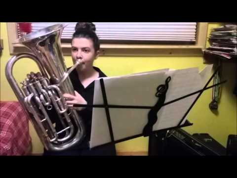 Taylor Bushey Euphonium Audition, Melodic Minor Scales