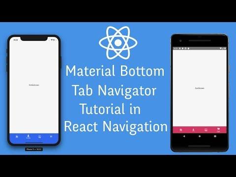 Material Bottom Tab Navigator Tutorial in React Navigation 4.0 thumbnail