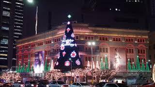 明洞Lotte Mall u0026 新世界百貨公司可愛燈光秀