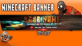 Minecraft Banner - Free Template Download