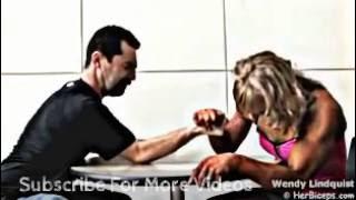 The Girls body builder arm wrestling Sigmund Freud