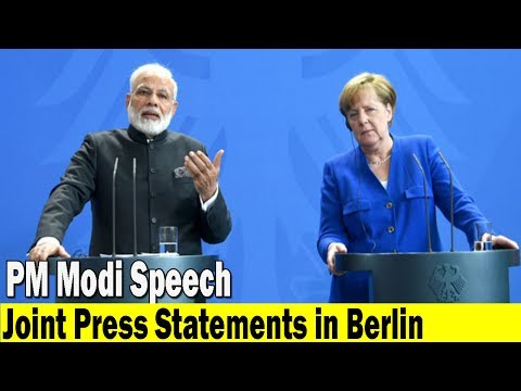 PM Modi Speech at the Joint Press Statements in Berlin Germany