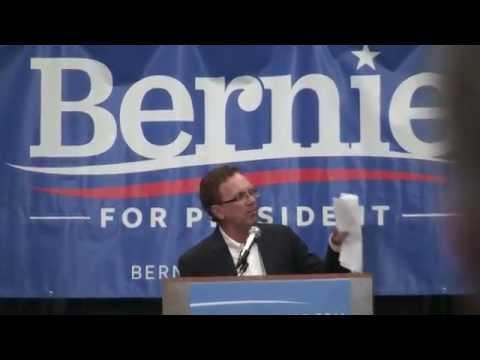 John Nichols Introduces Bernie Sanders in Madison, Wisconsin