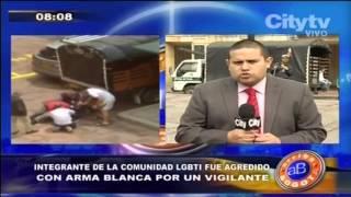 Citytv: Arriba Bogotá: Integrante de la comunidad LGBTI fue agredido por vigilante
