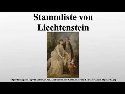 Stammliste von Liechtenstein