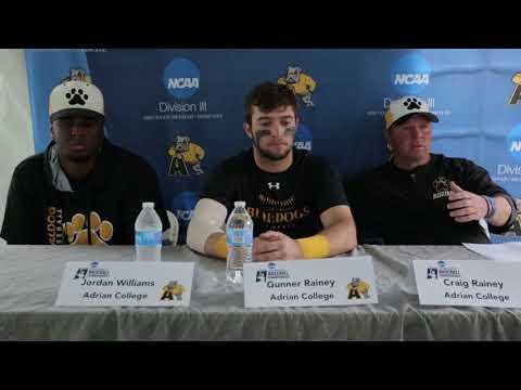 Adrian NCAA Division III Baseball Championship Mideast Regional Presser 5-20-2018