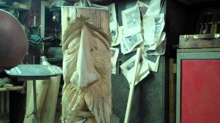Chainsaw Carving A Woodspirit - Step 4 By: John Melo