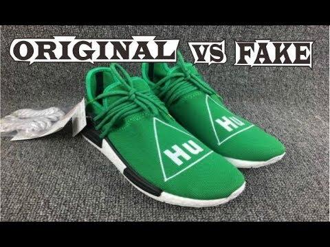 ce144fb21d0 Adidas X Pharrell Williams NMD Human Race Green Original & Fake