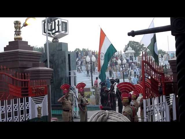 Wagah Border Ceremony filmed from the VIP seats  -- Indian / Pakistan Border Travel Video