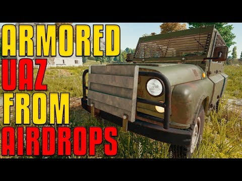 NEW Armored UAZ from Airdrop - Guide and Gameplay | PUBG