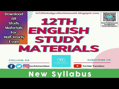 12th English All Study Materials For Half Yearly 2019